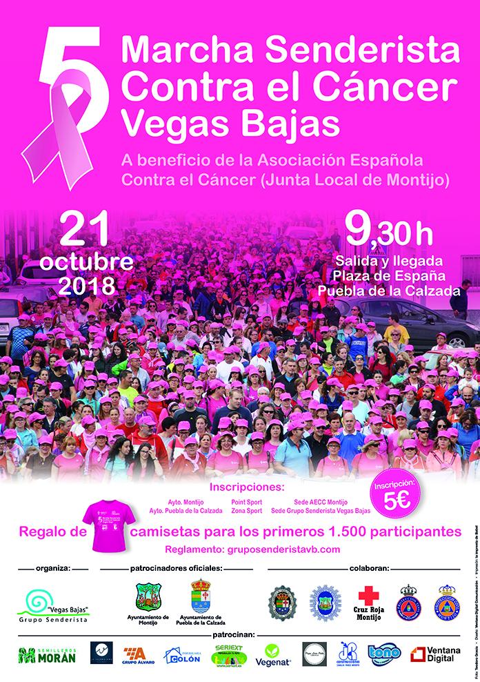 cartel V Marcha Senderista contra el Cáncer Vegas Bajas copia