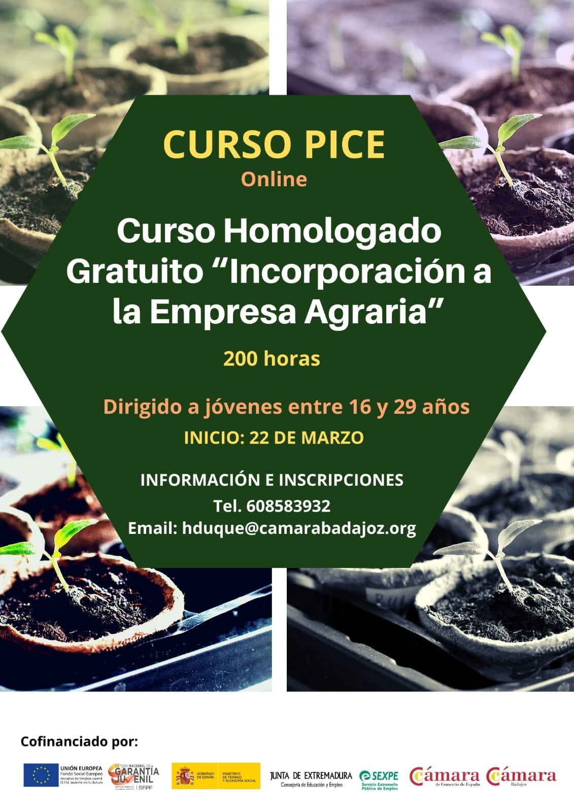 CURSO HOMOLOGADO Y GRATUITO DE 'INCORPORACIÓN A LA EMPRESA AGRARIA'